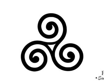 Celtic triskelion applique Thermo flex