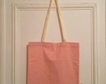 Tote bag with polka dots