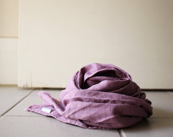 LINEN SCARF for CHILDREN / mauve / handmade in australia / pamelatang