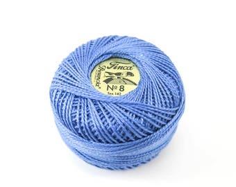 Pearl Cotton Thread | Presencia Finca Perle Cotton Thread for Hand Embroidery, Quilting, Needlework - Dark Baby Blue (3319)