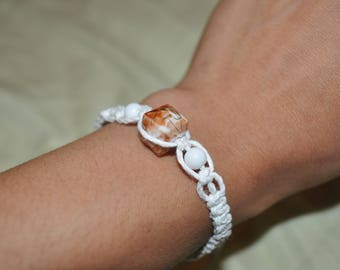 Creamsicle hemp bracelet