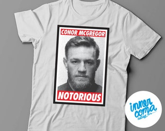 Conor McGregor Notorious Mugshot Tshirt