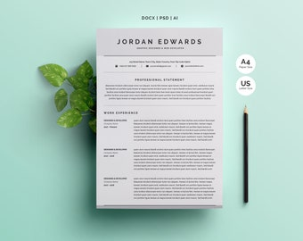 Word Resume Template 4 Pages