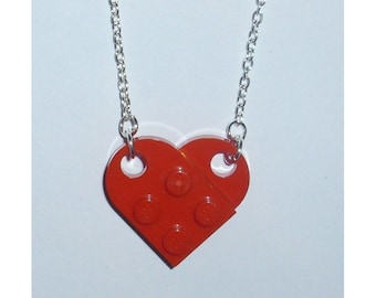 Lego Red Heart Necklace - Opens at the front *et*