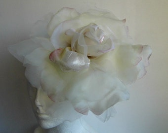 SALE Extra Large Rose -  Ivory with a Hint of pink WAS 50.00 NOW 40.00