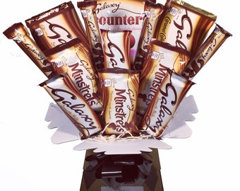 Galaxy Chocolate Bouquet - Sweet Hamper Tree Explosion - Perfect Gift