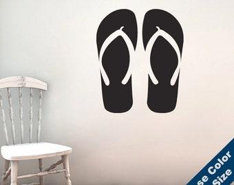 Flip Flops Wall Decal - Sandals Vinyl Sticker