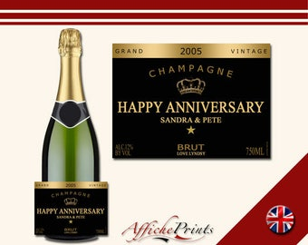 L8 Personalised Champagne Brut Bottle Celebration Grand Label - Perfect Gift For Any Occasion!