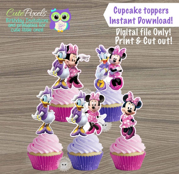 minnie mouse cake topper minnie mouse cupcake toppers duck cupcake toppers 5944