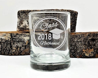 Graduation Party Favors Personalized Name Class of 2018 Engraved Glass Candle Holders 100 pcs Table Decor Guest Keepsake