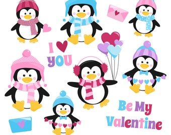 Penguin clipart etsy valentines day clipart valentine clip art penguin clipart valentine penguins digital penguins voltagebd Choice Image