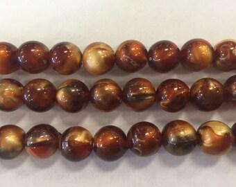 12mm acrylic round beads, 30 beads