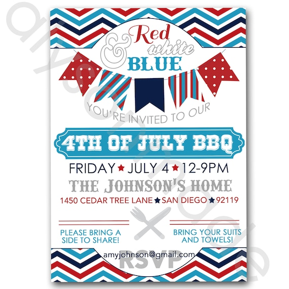 May The 4th Be With You Invitations: July 4th BBQ Potluck Invitation Customized And Personalized