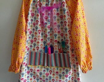 Bows and Flowers Art Smock