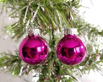 Pink Christmas Earrings/Christmas Ornament Earrings/Holiday Jewlery/Holiday Earrings/Glass Bulb Earrings
