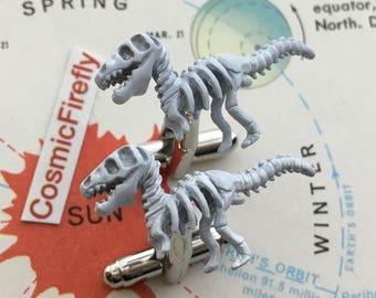 Jurassic Dinosaur Cufflinks Men's Cufflinks Dinosaur Cufflinks Trex Cufflinks Steampunk Cufflinks T Rex Boy's Cufflinks Dinosaur Bones