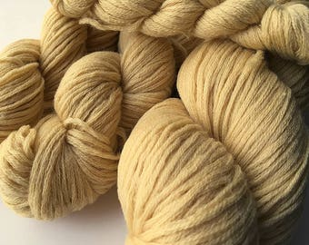 Reclaimed Worsted Yarn - Wool - Mellow Yellow