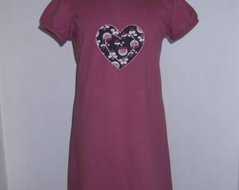 DRESS PINK SWEET HEART FLEECE 12/18 MONTHS TO 2/3 YEARS