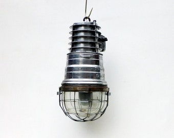 Explosion Proof Industrial Pendant Light, industrial pendant, industrial light, vintage light, large aluminium pendant, ships light, light