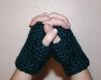 Crochet Hand Warmers; Crochet Fingerless Gloves; Women's Handwarmers