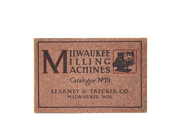 Vintage Industrial Decor - Industrial Art - Machinery Catalog - Milwaukee Milling Machines - American Industrial History - Antique Catalog