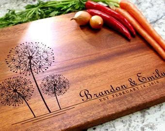Personalized Cutting Board - Engraved Cutting Board, Custom Cutting Board, Wedding Gift, Housewarming Gift, Anniversary Gift W-003 GB