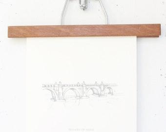 8x10 Travelogue Art Prints: Paris Bridges