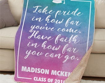 Personalized Congratulations Sherpa Throw, Sherpa, Graduation, Grad Gifts, Colorful, Congratulations, Spring, Pride -gfyU1258387