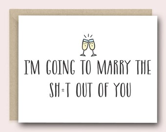 Greeting Card | On Our Wedding Day | Wedding Day Card | Card For Groom | Love Card | To My Husband | To My Wife | Card for Bride