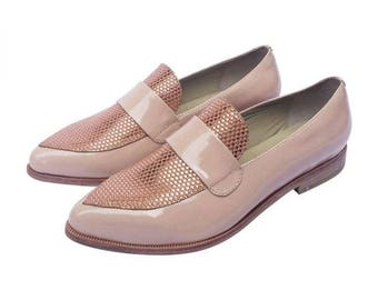 Patent leather Moccasin Rosewood with Brazilian leather