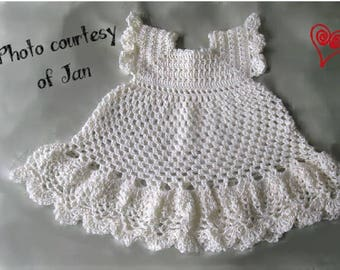 BABY CROCHET PATTERN - Exquisite Christening Dress/Gown - Pineapple Design