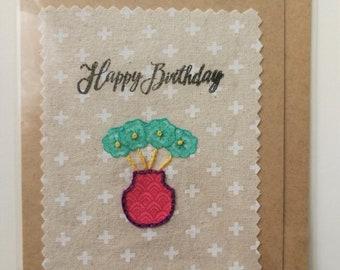 Happy Birthday Card, handmade greeting card