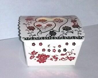 10 boxes bright glittery pink heart shaped gift box