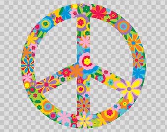 Decals Sticker Peace Symbol 70s freedom No war Waterproof Vinyl 10504