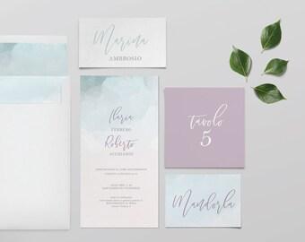 Invitations de mariage invitations de mariage-suite-modèle Alaska