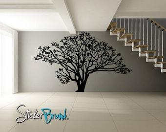 Vinyl Wall Decal Sticker Dogwood Tree AC152A 72in Tall x 96in Wide
