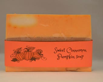 Cinnamon Pumpkin soap, halloween soap, fall seasonal soap, homemade soap, organic soap, bath and spa, luxury soap, spa day, gifts for her