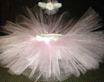 Ballerina tutu with matching tulle headband