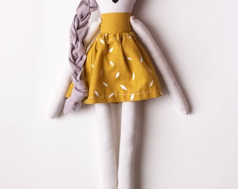 Rad Little Girl Cloth Doll: handmade with organic cotton