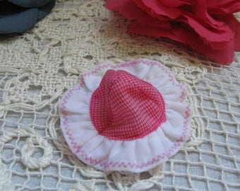 Barbie's Little Sister Doll Hat  ~~  Tutti Doll Original Pink Checkered Hat #3550
