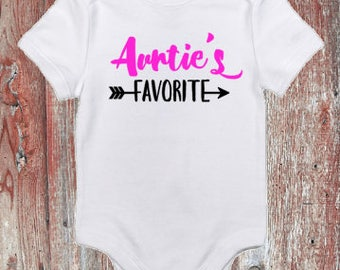 Auntie's Favorite Infant Bodysuit or Toddler Tshirt