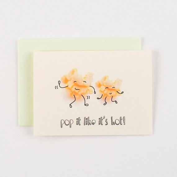 Pop It Like Its Hot Popcorn Greeting Card
