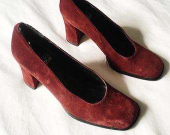 Vintage Chunky Jazz Heels