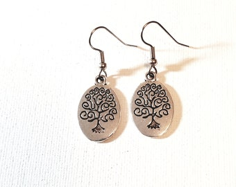 Tree earrings surgical steel