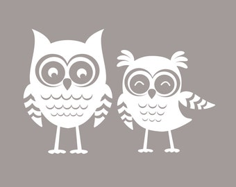 Owl Nursery Decor   Set of Two Owl Wall Decals