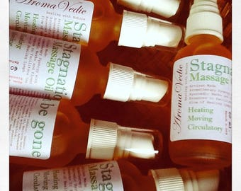 Massage Oil for Lymph Drainage with Ayurvedic Herbs and Essential Oils