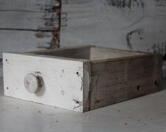 Chippy White Drawer, Vintage Drawer, Vintage Wooden White Drawer, Farmhouse Decor, Vintage Wedding, Vintage Photography Prop