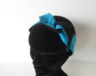 Brown short hard headband and rturquoise