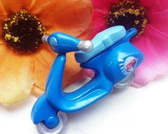 Acrylic blue scooter shape pendant/charm