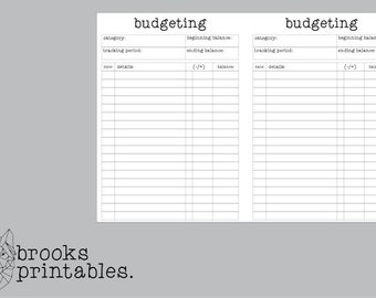 Pocket RINGS Budget Insert | Printable Inserts